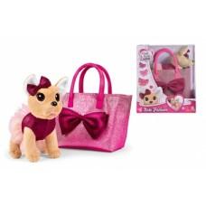 Іграшка Собачка Chi Chi Love Чихуахуа Фешн Блиск з бантом сукнею і сумочкою (5893439)