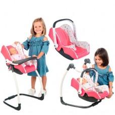 Автокрісло переноска стільчик для ляльки Smoby MAXI COSI 3 в 1, 240226