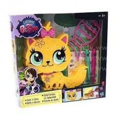 Ігровий набір Прикрась тваринку Жовта Кішечка Littlest Pet Shop Hasbro B0096