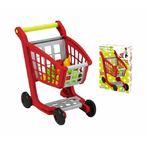 Тачка  візок кошик для супермаркету з продуктами харчування, 13 аксес., 18міс. + 001225