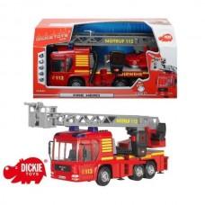 Пожежна машина Dickie з рацією, звуком і водним ефектом, 3716003