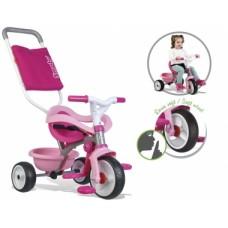 740404 Дитячий металевий велосипед Бі Mуві з багажником та сумкою-конвертом, рожевий, 10міс.+