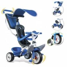 Дитячий металевий велосипед з козирком, багажником та сумкою, синій, 10міс.+   741102