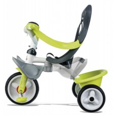 Дитячий металевий велосипед з козирком, багажником та сумкою, зелений, 10 міс.+  741100