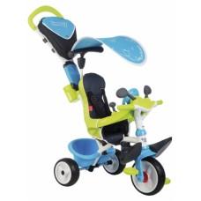 741200 Дитячий металевий велосипед Бебі Драйвер з козирком та багажником, блакитно-зелений, 10 міс.+