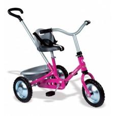 """Дитячий металевий велосипед """"Зукі"""" з багажником, рожевий, 16 міс.+     454016"""