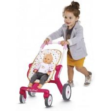 Коляска возик для ляльки Smoby Baby Nurse для прогулянок з поворотними колесами 251223