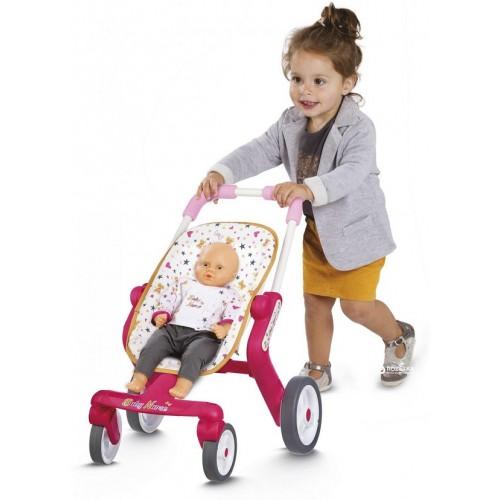 Коляска Smoby Baby Nurse для прогулянок з поворотними колесами 251223