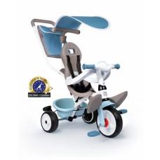Дитячий металевий велосипед з козирком, багажником та сумкою, блакитний, 66х49х100 см, 10 міс.+   741400