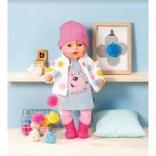 БЕЗКОШТОВНА ДОСТАВКА Лялька пупс Бебі Борн Baby Born Ніжні обійми Zapf Стильний лук 826690