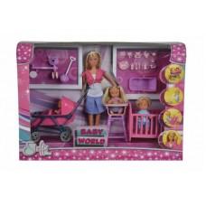 Лялька Штеффі з дітьми та аксесуарами 5736350, Simba