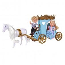 Ляльковий набір Simba Еві і Тіммі Карета принцеси з конем 5738516