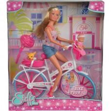 Лялька Штеффі з малюком і чихуахуа на велосипеді Simba 5739050