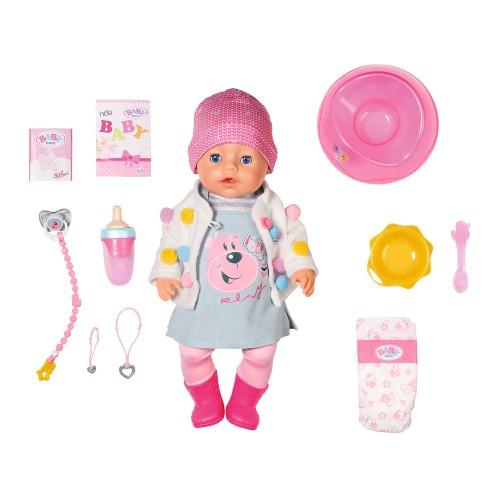 БЕЗКОШТОВНА ДОСТАВКА Лялька Zapf Baby Born Чарівне малятко 43 см Ніжні обійми СТИЛЬНИЙ ЛУК Zapf 826690 / поліпшена 824368