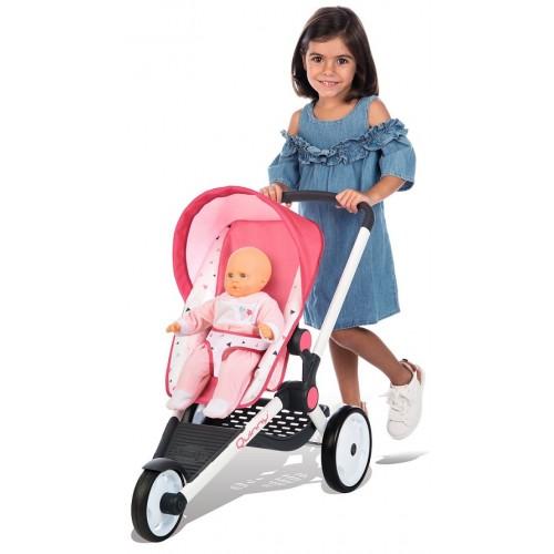 Smoby Прогулочная трехколесная коляска для кукол пупсов 255098 Maxi Cosi