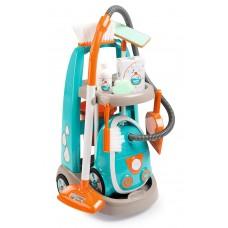 Ігровий набір Smoby Візок для прибирання з пилососом і 9 аксесуарів (330309)