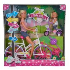 Ляльковий набір Штеффі та Еві Прогулянка на велосипедах Simba 5733045