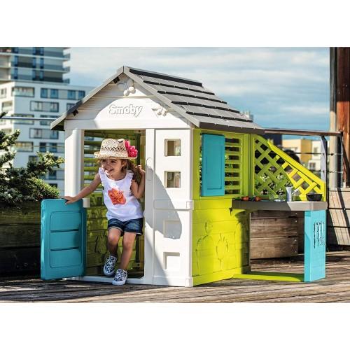 Ігровий Будиночок з літньою кухнею Smoby Pretty 810711 ігровий будиночок дитячі будиночки для вулиці