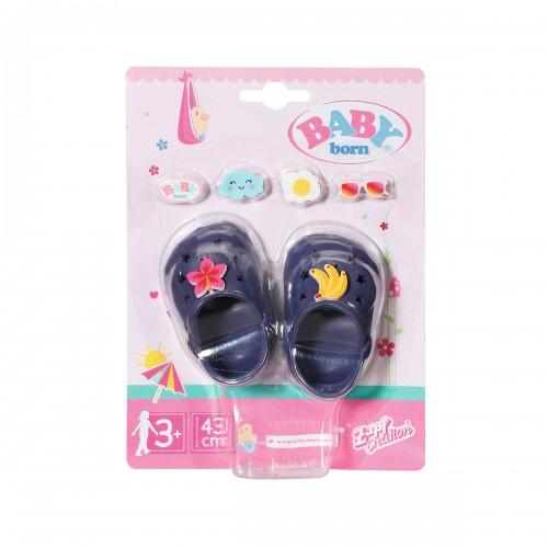 Взуття для ляльки BABY born - Святкові сандалі Крокси бебі Борн (сині) ZAPF CREATION 828311-4