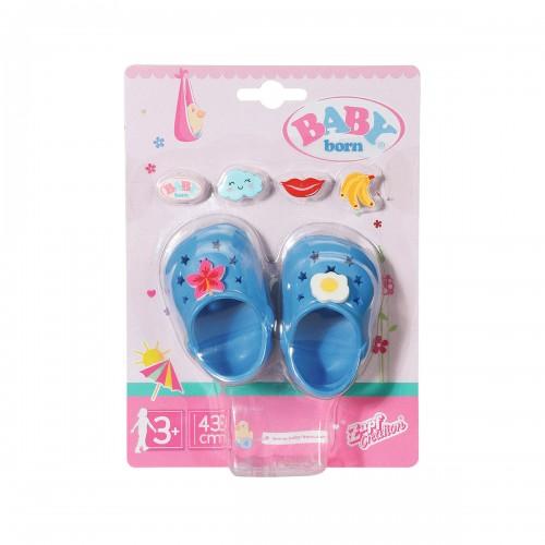 Взуття для ляльки BABY born - Святкові сандалі з значками (блакитні) ZAPF CREATION 828311-5