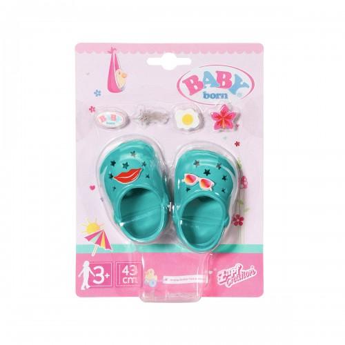 Взуття для ляльки BABY born - Святкові сандалі з значками (зелені) ZAPF CREATION 828311-6