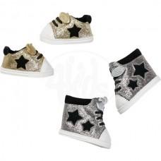 Взуття Zapf для ляльки Baby Born Блискучі кеди Золотисті 826997