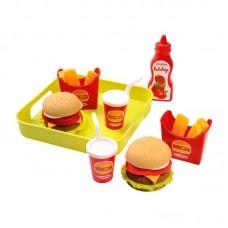 Набір продуктів Ecoiffier Гамбургер з підносом 000957