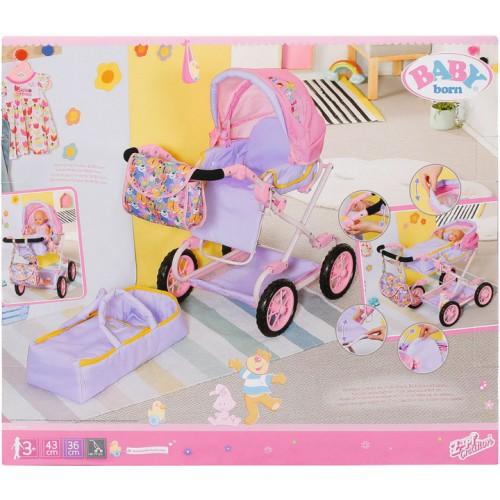 Коляска возик для ляльки Baby Born Делюкс S2 складна, з сумкою  828649