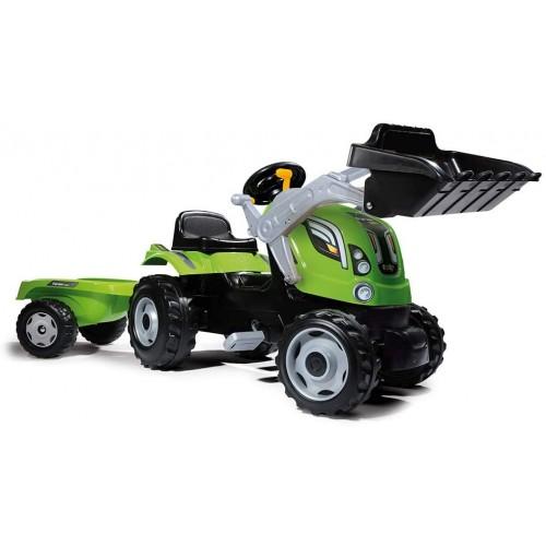 Дитячий трактор на педалях з причепом Farmer Max Smoby 710109
