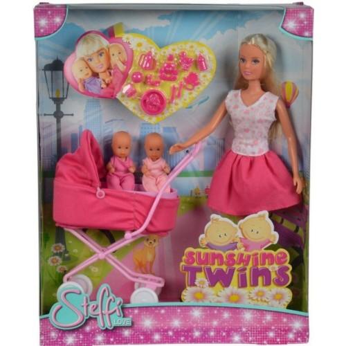 Лялька Штеффі на прогулянці з близнюками, Steffi Love Sunshine Twins, Simbа